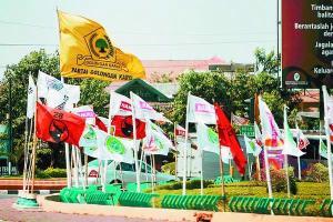 Beberapa Bendera Partai Politik